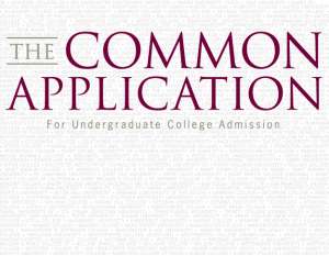 The Common App questions have changed beginning Fall 2013