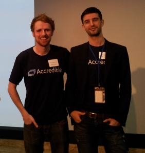 Danny King and Alan Heppenstall, the founders of Accredible