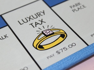 Luxury tax space on Monopoly board